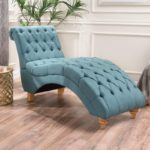 Bellanca Fabric Tufted Chaise Lounge Chair