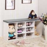 Cabinet Storage Bench with Cushion