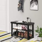 Black Shoe Rack Bench