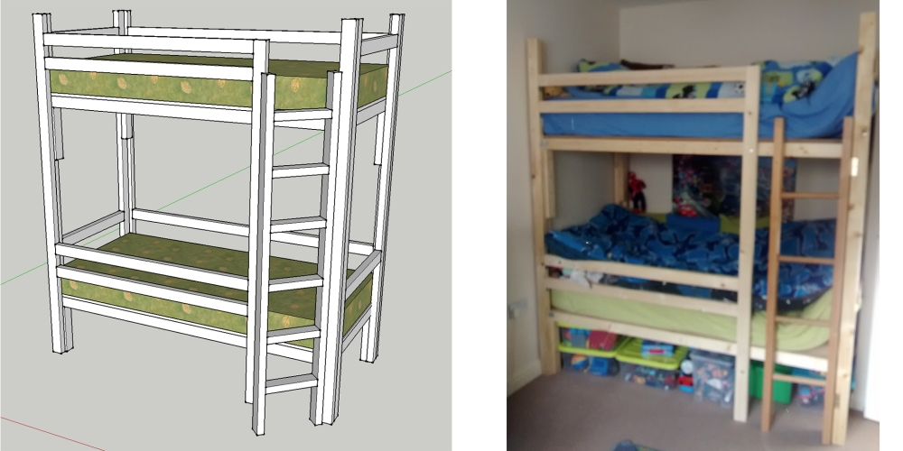 Compact-Size Bunk Bed