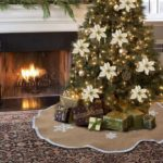 Burlap Snowflake Christmas Tree Skirt Ornament