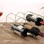 Buruis 9 Bottles Metal Wine Rack
