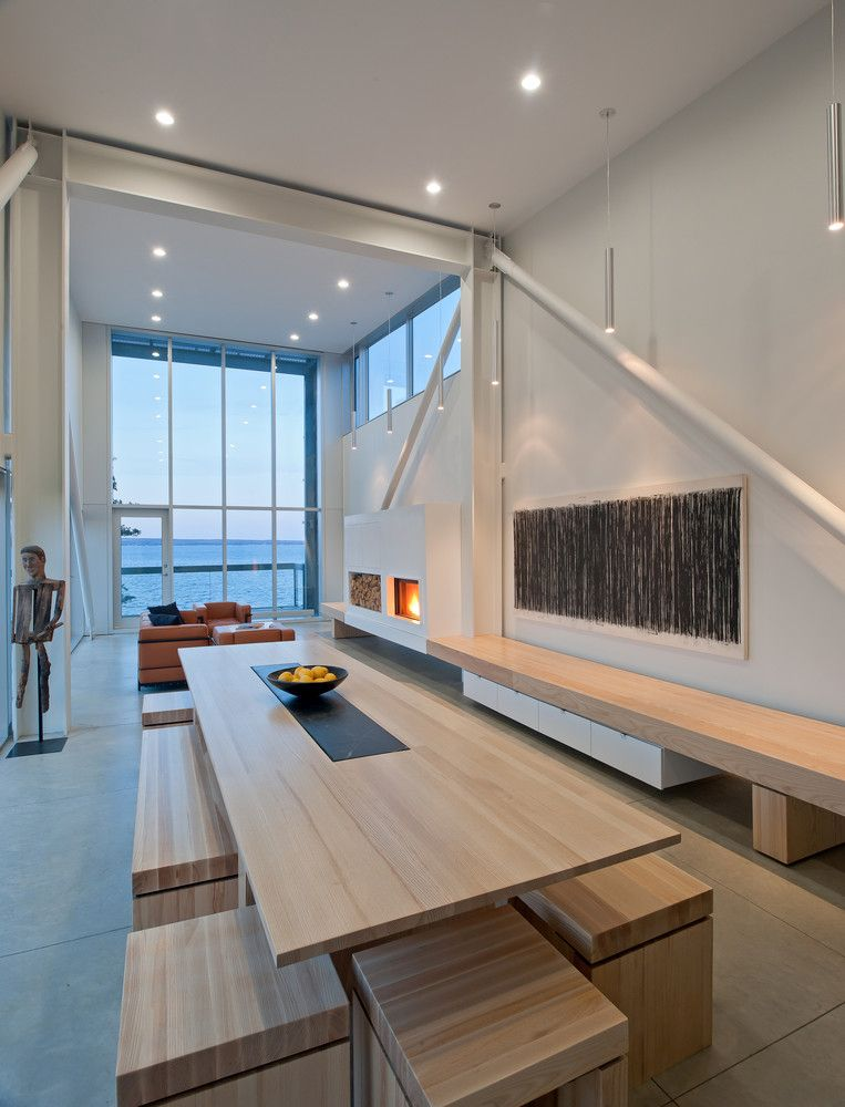The living area is large, open and very simple as far as the interior design and decor are concerned