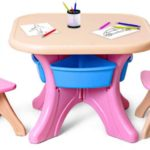 Costzon Kids Table and 2 Chair Set