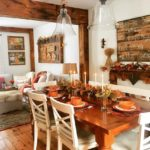 Country style dining table decor for Thanksgiving