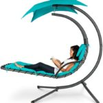 Curved Chaise Lounge Chair Swing