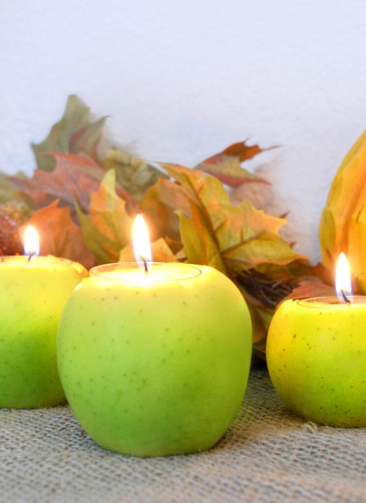 DIY Apple Candle Centerpiece