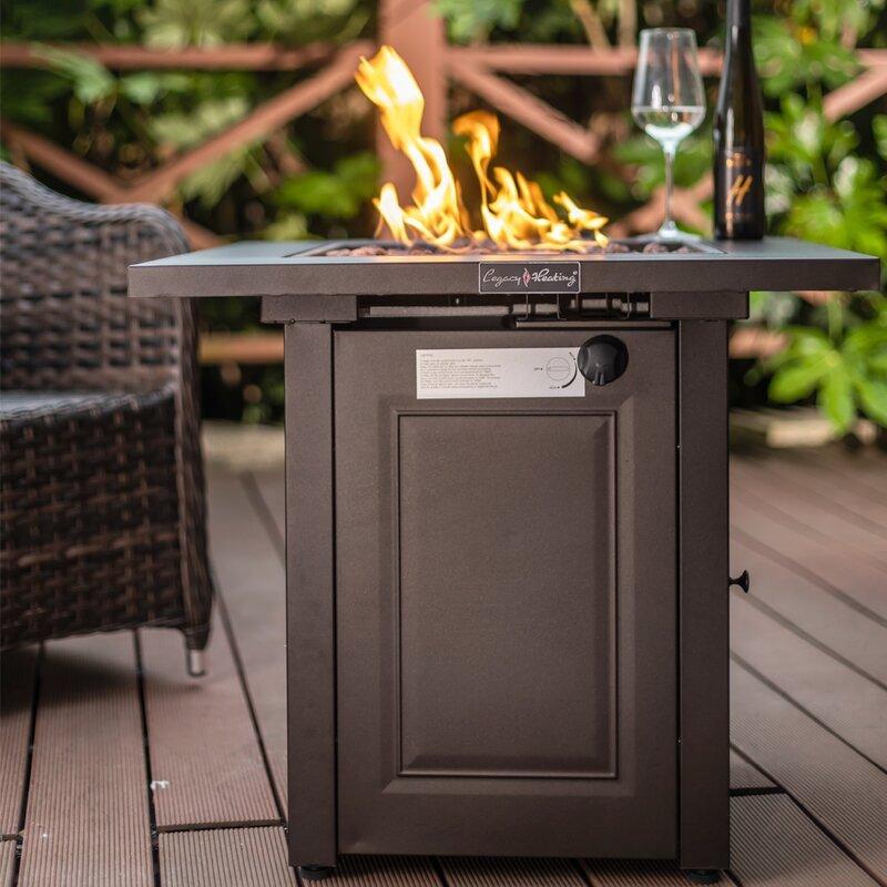Prine 24'' H x 28'' W Steel Propane Outdoor Fire Pit