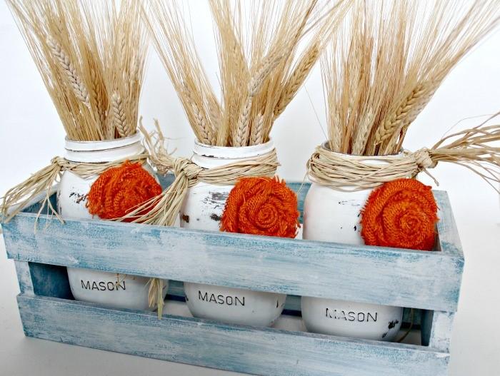 Easy Fall Mason Jar Centerpieces