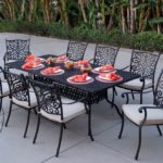 Elisabeth Cast Aluminum 9 Piece Dining Set with Seat Cushions
