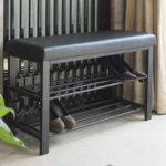 Entryway Shoe Rack with Cushioned Seat