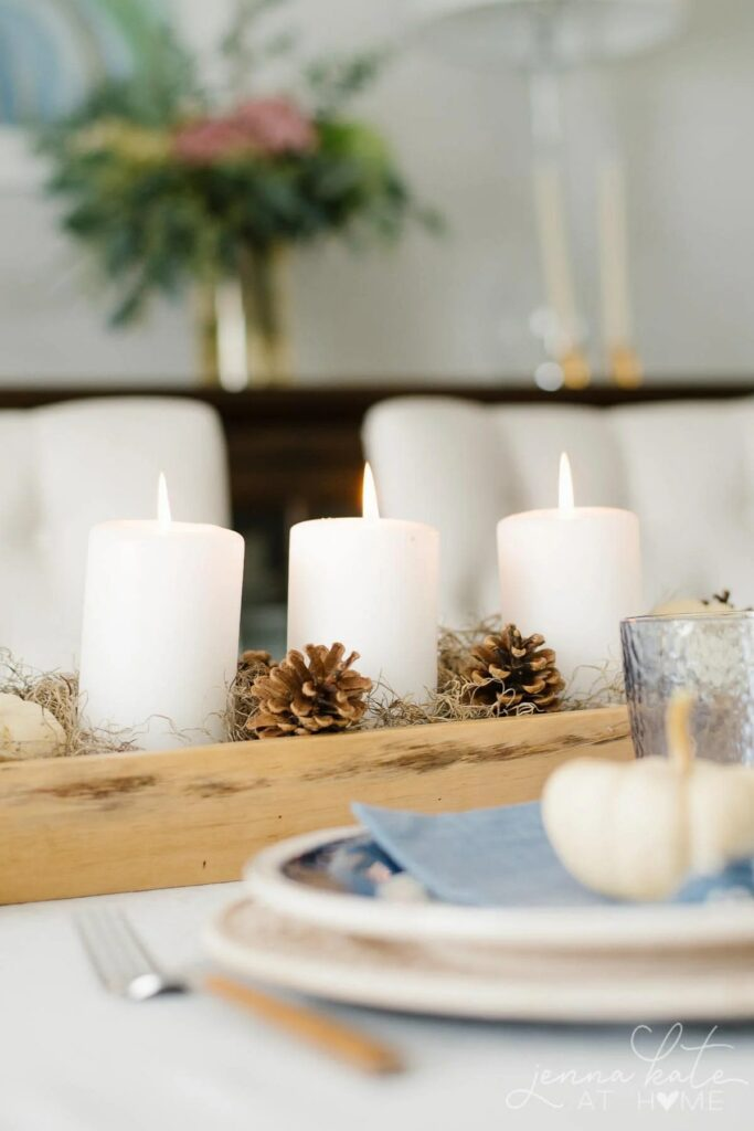 Fall Centerpiece with Candles