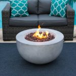 Fiber Concrete Outdoor Propane Gas Fire Pit Table Bowl