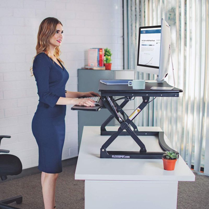 Standing Desk Converter With Adjustable Height Desk For Home And Office Desk
