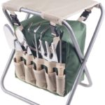 Folding Garden Stool with Tool Bag