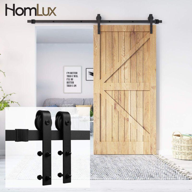 5ft Heavy Duty Sturdy Sliding Barn Door Hardware Kit