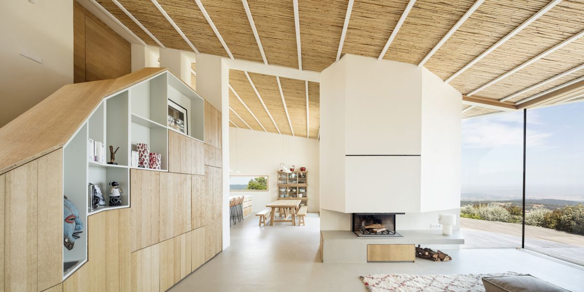the interior spaces are bright, open and airy and some also have tall ceilings