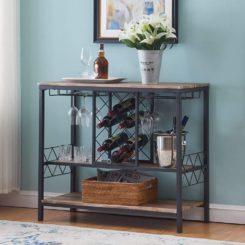 工业酒架桌与玻璃持有人