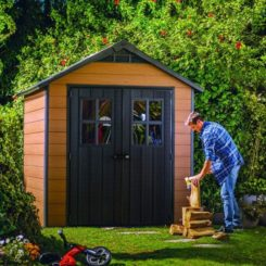 Keter 245114 Newton 7.5x7 Outdoor Storage Shed