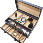Luxury Mens Dresser Valet Organizer for Watches