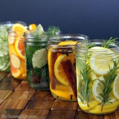 Mason jars pot pourri