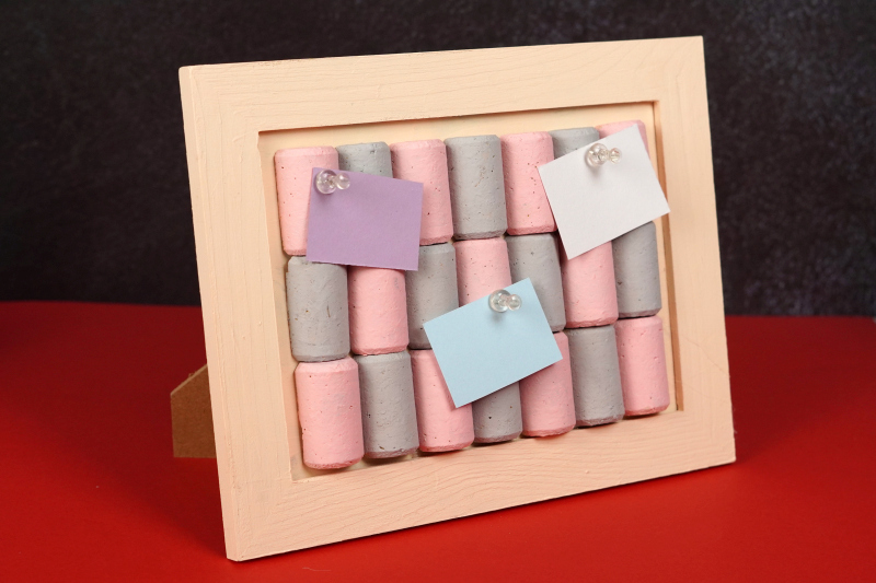 Mini framed cork board for your desk