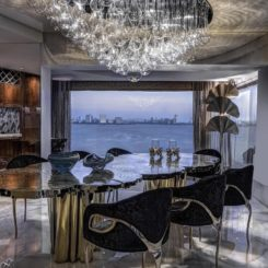 Mumbai Queens Necklace Apartment Decor - dining view