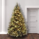 National Tree 7.5 Foot Carolina Pine Tree with Flocked Cones