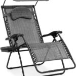 Oversized Steel Mesh Zero Gravity Reclining Lounge Patio Chair