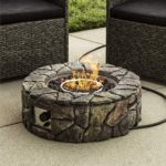 Patio Natural Stone Gas Fire Pit for Backyard