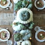 Pumpkin fall centerpiece table decor