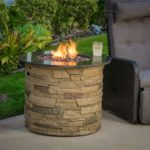 Rogers Round Stone Fire Pit Table