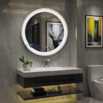 Round Wall Mount Mirror for Bathroom