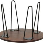Satin Black Hairpin Coffee Table Leg