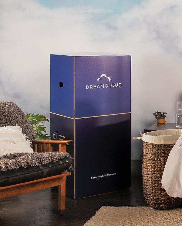 unboxing of the DreamCloud mattress