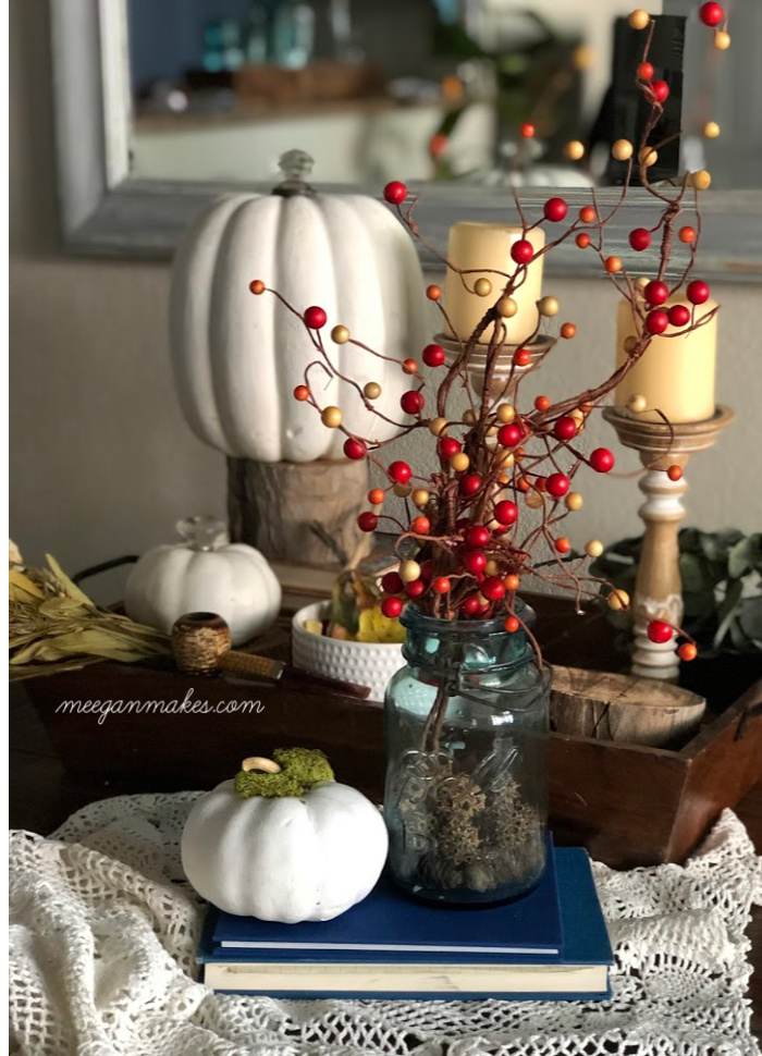Simple and Easy Faux Berry Vine Centerpiece