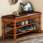 Solid Wood Storage Bench Entryway with Lift Top