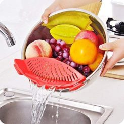 Strainer with 2 Clip for Veggies Pasta