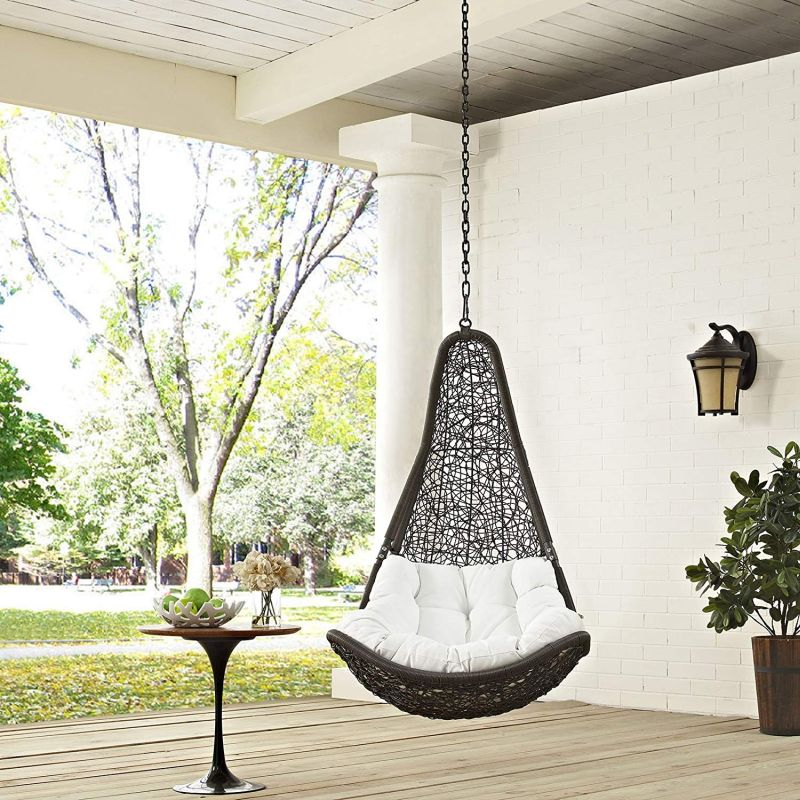 Rattan Outdoor Patio with Hanging Steel Chain