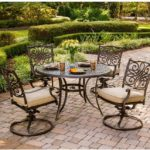 Traditions 5-Piece Deep-Cushioned Swivel-Rocker Dining Set