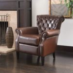 Tufted Bonded Leather Club Chair
