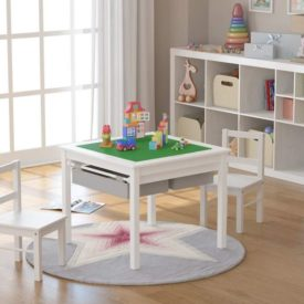 UTEX 2-in-1 Kids Multi Activity Table and 2 Chairs Set