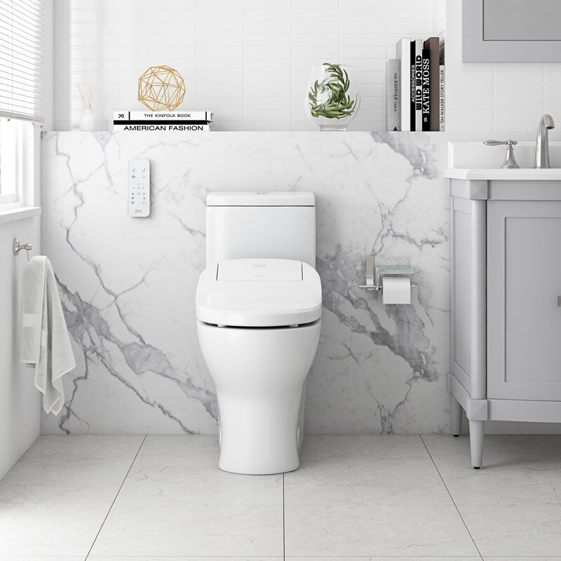 Ove Decors 15WST-FELI15-WHTOU Dual-Flush Elongated Bidet Toilet