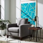 Wood Accent Living Room Arm Chair