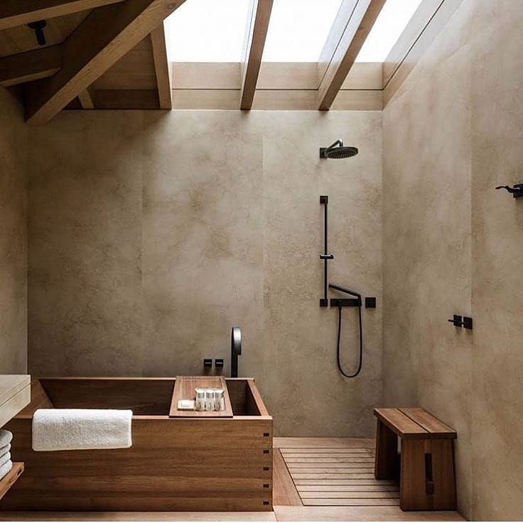 Wooden Jsapanese style bathroom - Home Decorating Trends - Homedit