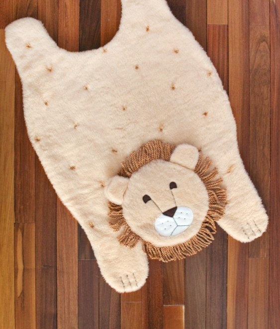 A cute and cozy animal rug
