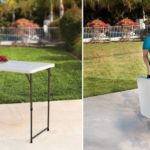 Height Adjustable Craft Camping and Utility Folding Table