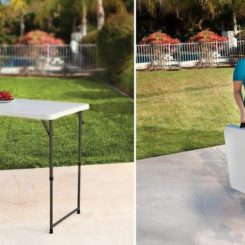 Adjustable Craft Camping and Utility Folding Table