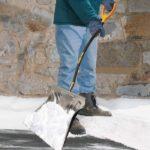 Aluminum Show Shovel with Ergonomic D-Grip Steel Handle