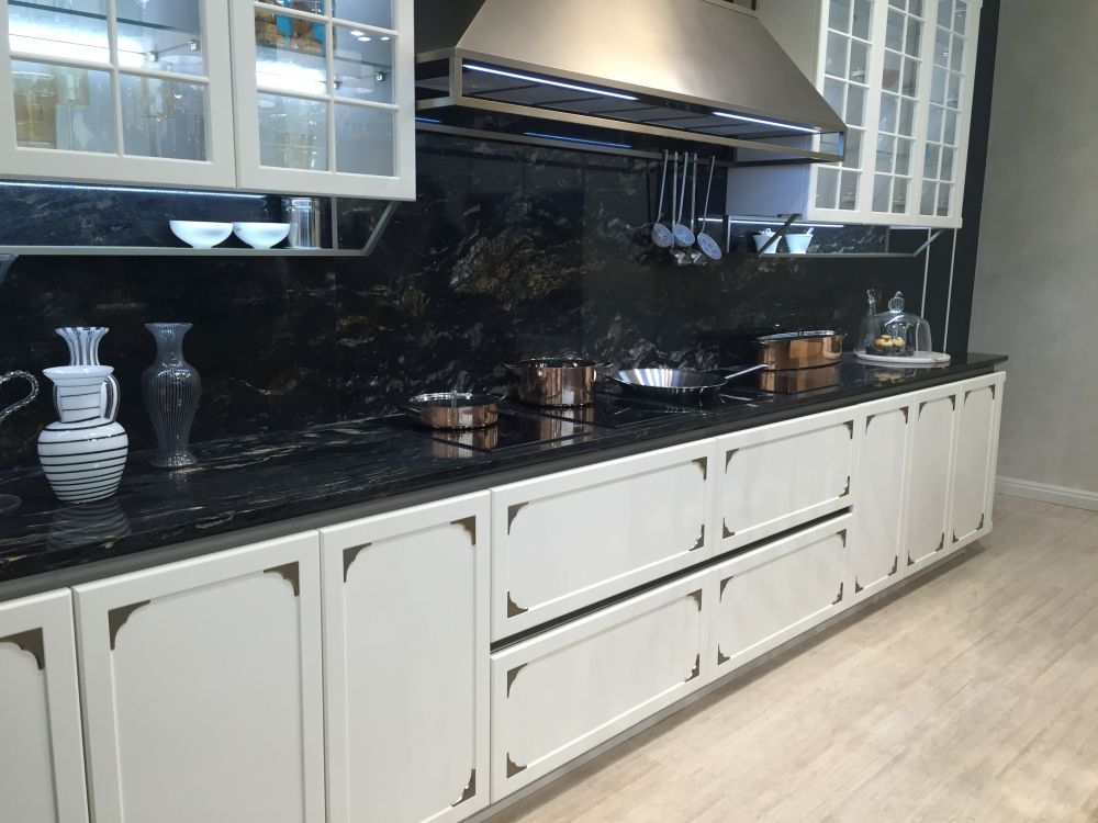 The Versatility Of Black Kitchen Backsplashes And How To ... on Black Granite Countertops With Backsplash  id=90390